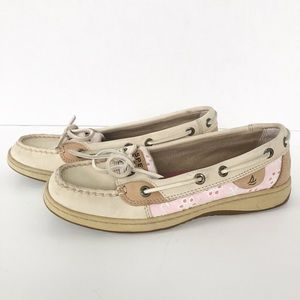 Sperry Topsiders Leather and Eyelet Boatshoes